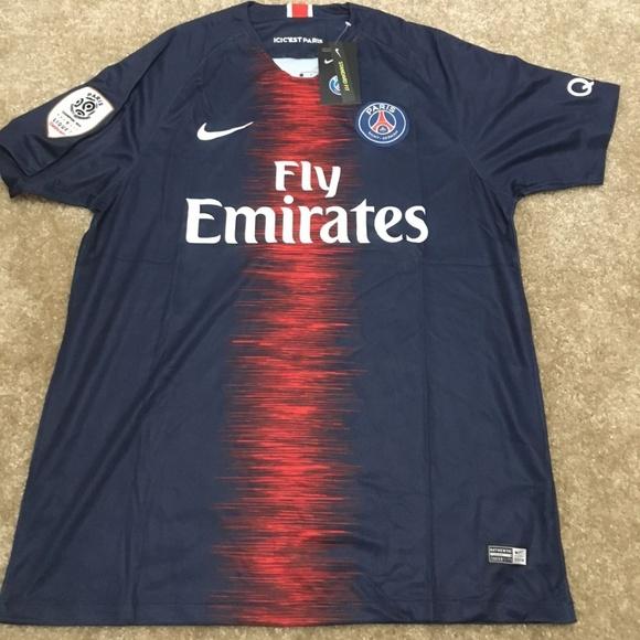 8fc53a1b3a24 PSG Paris Saint Germain Home 18 19 Jersey LIGUE 1
